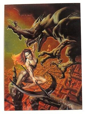 ESA1068. BORIS VALLEJO with JULIE BELL Collector's Trading Card Promo (1996)