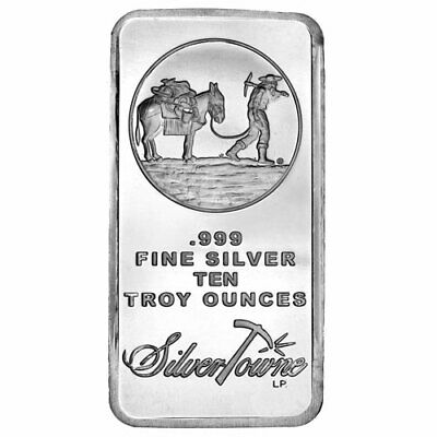 ON SALE! 10 oz SilverTowne Prospector Silver Bar (New)