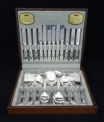 Beautiful Viners Kings Pattern Royale 44 Piece Silver Plated Canteen 6 Settings
