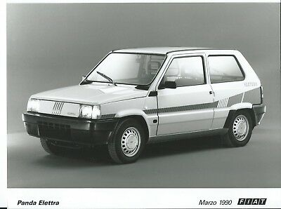 Fiat Panda Elettra 2 Original Press Photograph March 1990 Excellent Condition