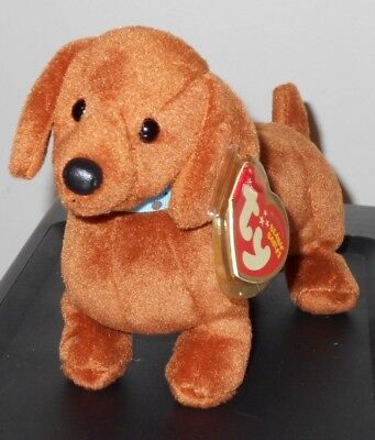 Ty Beanie Baby ~ FRANK the Dachshund Dog (Original Version) MINT with MINT TAGS
