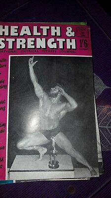 Bodybuilding magazine HEALTH AND STRENGTH   OCT 1960