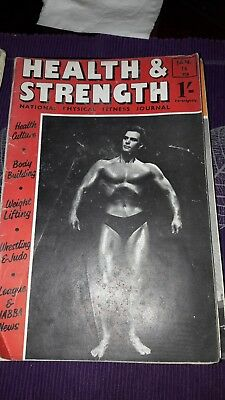 Bodybuilding magazine HEALTH AND STRENGTH JAN   1958