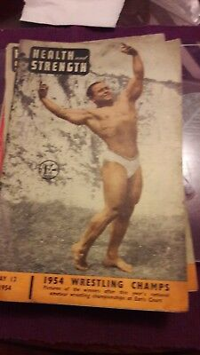 Vintage Health And Strength Bodybuilding Magazine  May 1954