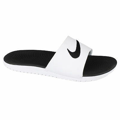 baf7a37e7579e7 Nike Kawa Slide Little Kids 819352-100 White Black Slide Sandals Youth Size  1