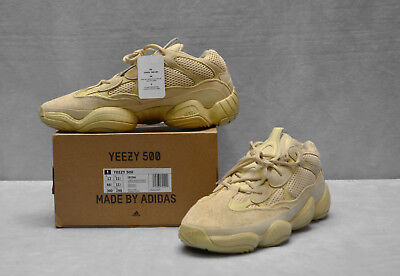 b469be7df77 C5 NEW ADIDAS Men s Yeezy 500 Desert Rat Super Moon Yellow Shoes DB2966  Size 12