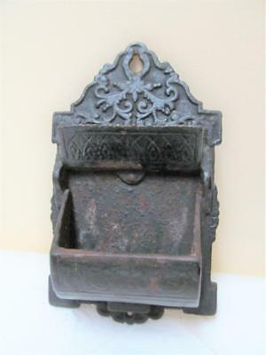Antique Kitchen-Fireplace Cast Iron Wall Mount Double Match Holder