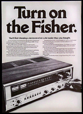 Vintage 1975 Fisher 432 AM/FM Stereo Receiver Magazine Print Ad