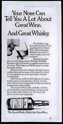1979 Old Forester Kentucky Straight Bourbon Whiskey Magazine Print Ad Tear Out