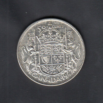 1947S7 Canada Silver 50 Cents