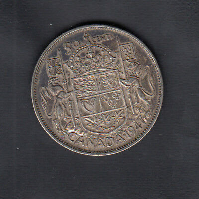1947C7 Canada Silver 50 Cents