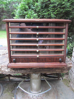 Antique Eureka Spool Cabinet 7 Drawer - Country General Store Display Lures