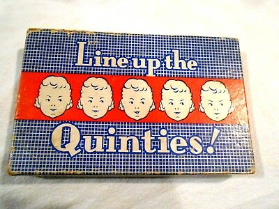 Vintage Dionne Quints-Line Up the Quinties Puzzle-Original Box w/Instructions