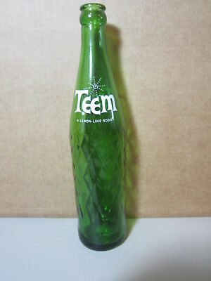 Vintage Teem Soda Pop Glass Bottle one pint starburst logo