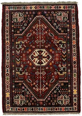Authentic Tribal Handmade Small Qashqai Persian Rug Oriental Area Carpet 3ʹ6X5ʹ