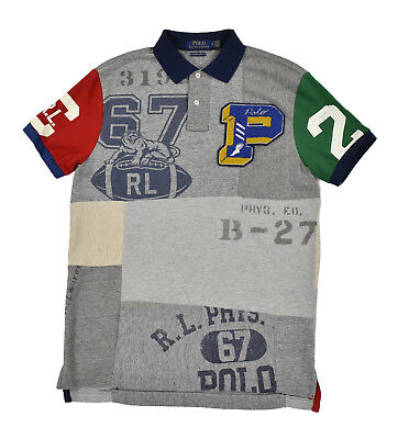 4a0a06d4d Ralph Lauren Polo Limited Edition P Wing Varsity Patchwork Mashup Shirt New