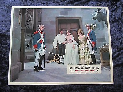 CARRY ON DON'T LOSE YOUR HEAD  lobby card #7 CHARLES HAWTREY, SID JAMES