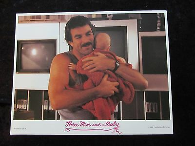 THREE MEN AND A BABY lobby card # 3 - TOM SELLECK