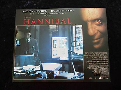 HANNIBAL lobby card # 11 ANTHONY HOPKINS, JULIANNE MOORE, SILENCE OF THE LAMBS