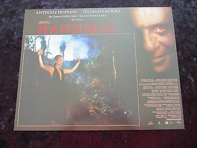 HANNIBAL lobby card # 3 ANTHONY HOPKINS, JULIANNE MOORE, SILENCE OF THE LAMBS