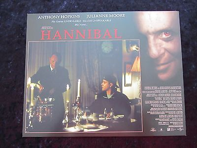 HANNIBAL lobby card # 5 ANTHONY HOPKINS, JULIANNE MOORE, SILENCE OF THE LAMBS