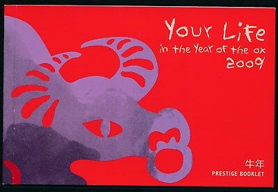 2009 Christmas Island Year Of The Ox Prestige Booklet
