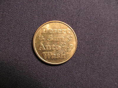 Desert Sun Auto Wash Token - Desert Sun Car Wash Coin - Desert Sun Carwash Token
