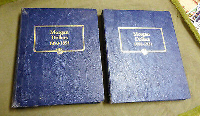 #BB. USED  COIN ALBUMS FOR USA MORGAN DOLLARS  1878 to 1921