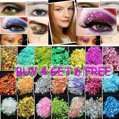 15G Chunky Mixed Glitter for Face Body Nails Eye Shadow Festivals Tattoo Makeup
