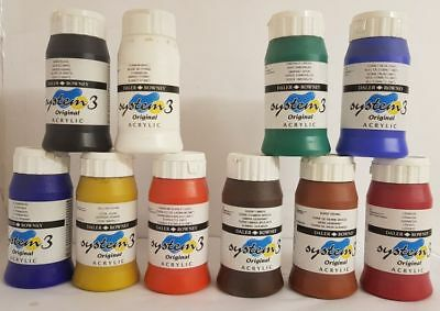 Daler Rowney System 3 Original Acrylic Paint 500ml Assorted Colours