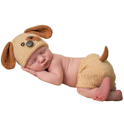 Newborn Baby Crochet Knitted Hat Shorts Photo Photography Posting Props Clothes