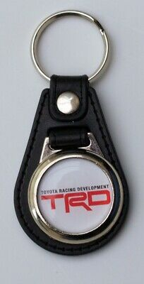 TRD Black Leather Style Keyring with Toyota Racing Development Logo (1043)
