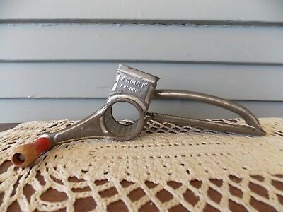 Vintage Mouli Cheese Grater Hand Held Metal Red Wood Handle Made in France