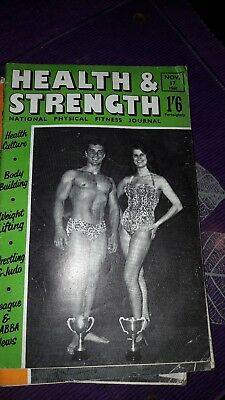 Bodybuilding magazine HEALTH AND STRENGTH  NOV   1960