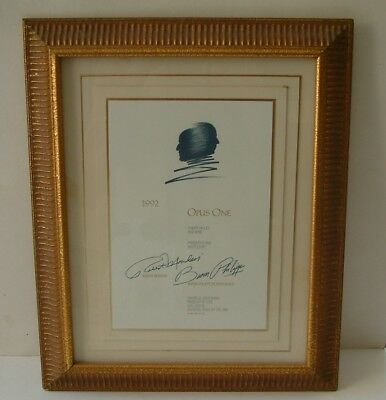 1992 Opus One Print Baron Rothsdchild And Robert Mondavi Framed Opus One Wine