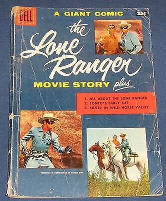 The Lone Ranger Movie Story March 1956 Dell Giant Clayton Moore
