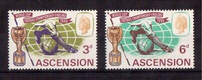 Ascension 1966 Set Mint Nh # 100/01, World Cup Soccer Issue !!