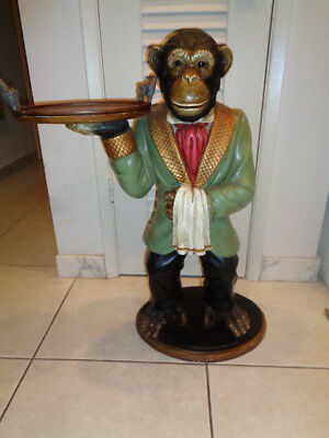 """Vintage Bombay Co.  Monkey Butler With Tray Statue (31 by 23 by 12"""")"""