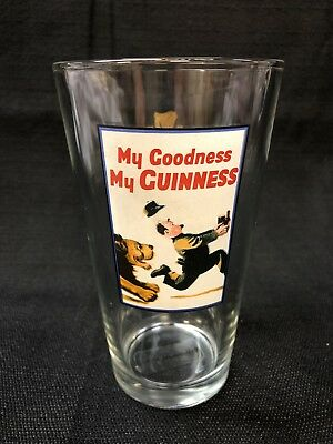LION Collectible Guiness Limited Animal Logo Pint Beer Glasse Bar Ware