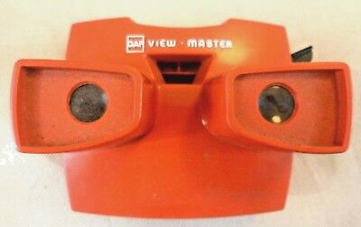 Vintage Photography - Gaf Model J Red Viewmaster Viewer #2 - Belgium Circa 1970s