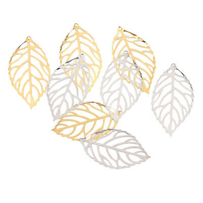 200x Alloy Leaves Charms Pendant DIY Chinese Hairpin Jewelry Making Findings