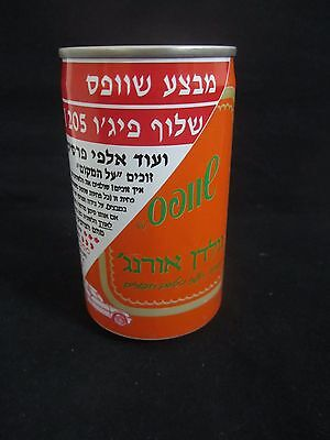 Schweppes  golden orange  : a 330 ml  empty  can, israel, 1990