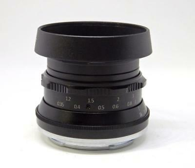 NEW 7artisans 35mm F1.2 APS-C Lens + Hood for  Canon EF-M EOS M Camera A802B