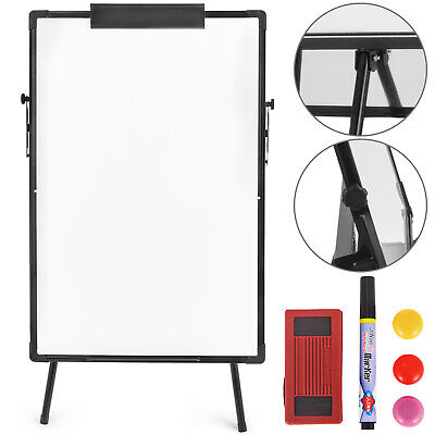 "Telescopic Tripod Whiteboard Dry Erase Easel Magnetic Display Board 24""x36"""