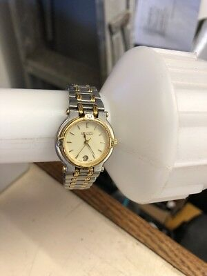 d944ccef27e Vintage GUCCI 9000L Gold Plated Stainless Steel Ladies Swiss Watch Authenitc