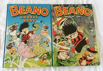 2 X Beano Book Annual 2005 & 2006  BOTH VERY GOOD CONDITION