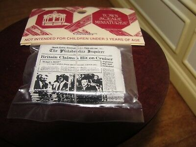 Dollhouse Miniature Group of Newspapers    NRFP