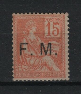 "FRANCE TIMBRE FRANCHISE MILITAIRE N° 1 "" MOUCHON 15c ORANGE "" NEUF xx TB  T181"