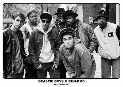 Beastie Boys & Run Dmc Group Photo Poster New  !