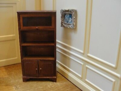 Dollhouse Miniature Wood Shelf Unit
